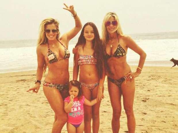 Alejandra Baigorria y su familia. Foto: Twitter