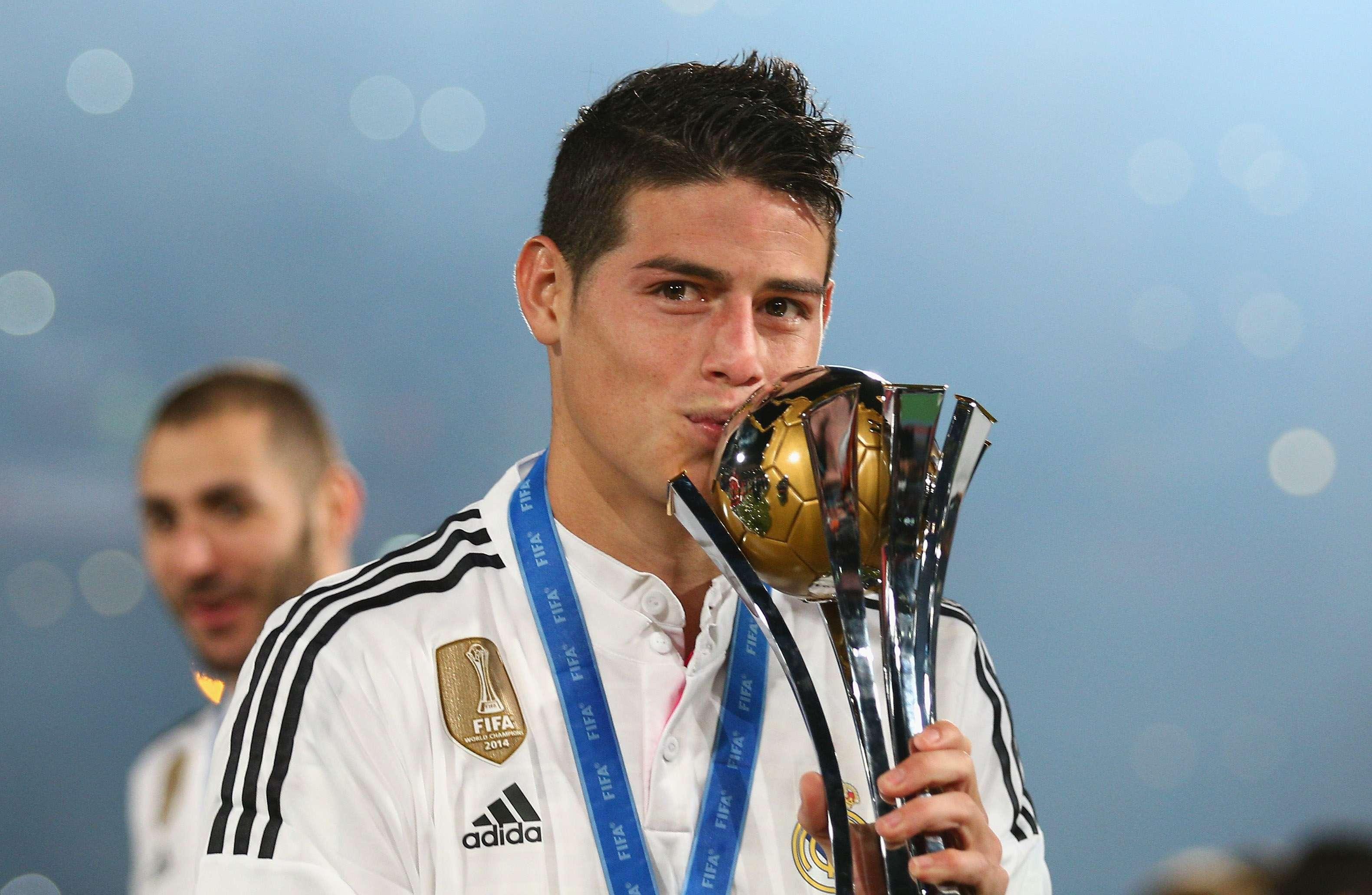 James Rodríguez ya sabe lo que es conquistar títulos con el Real Madrid. Foto: Getty Images