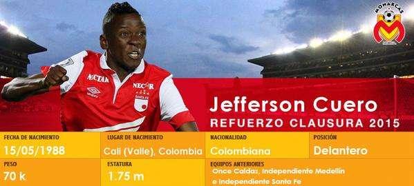 Jefferson Cuero es nuevo jugador de Morelia. Foto: Twitter Monarcas Morelia