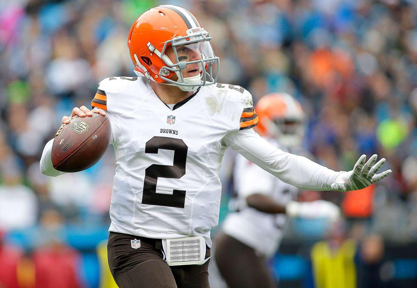 Johnny Manziel, quarterback de los Cleveland Browns. Foto: AP