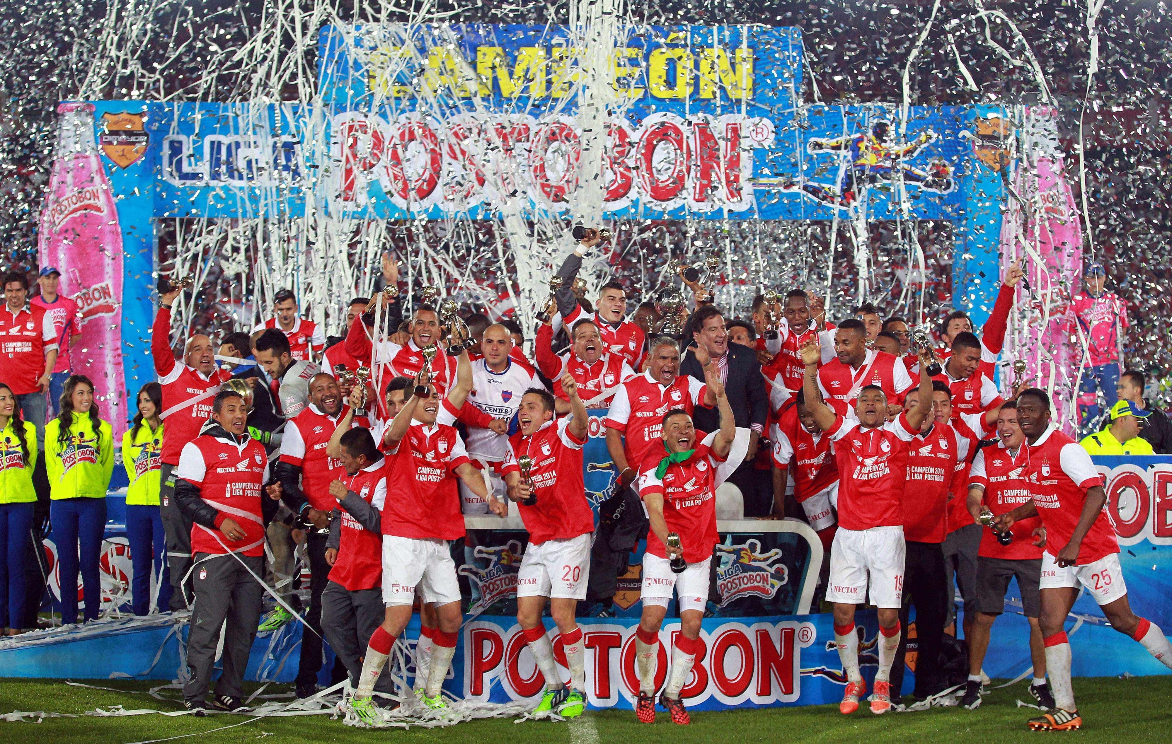 Santa Fé comemora título colombiano Foto: Mauricio Dueñas Castañeda/EFE