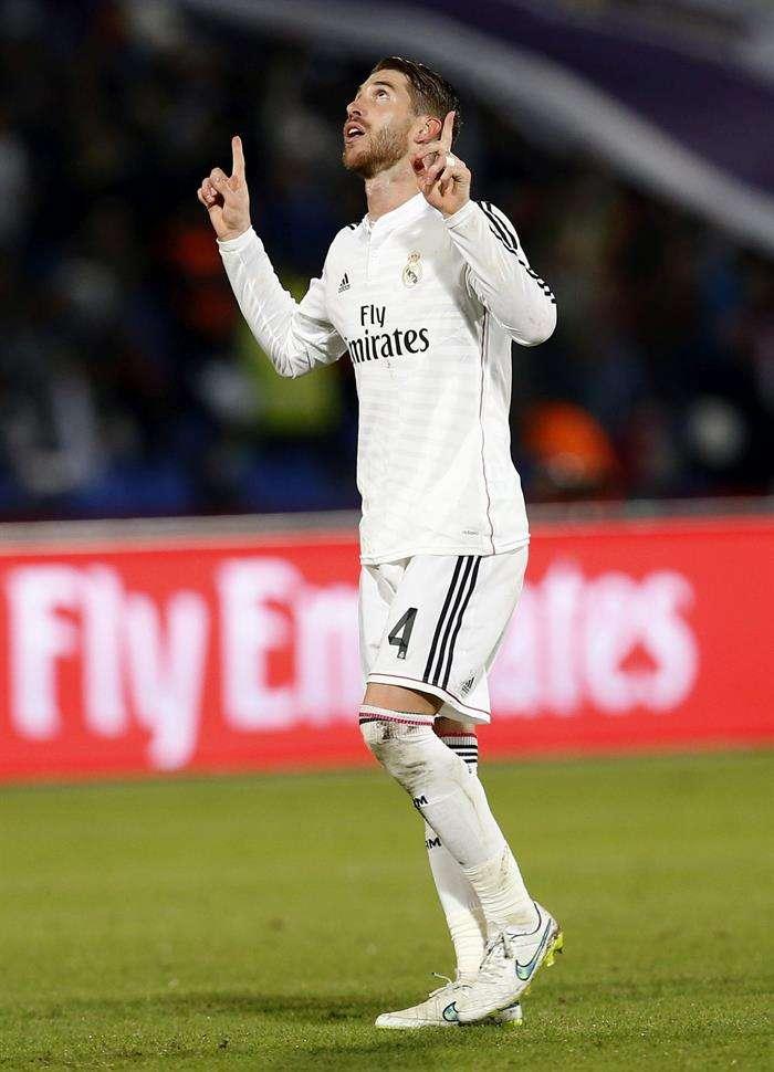 Sergio Ramos celebra su gol en la final del Mundial de Clubes. Foto: EFE en español