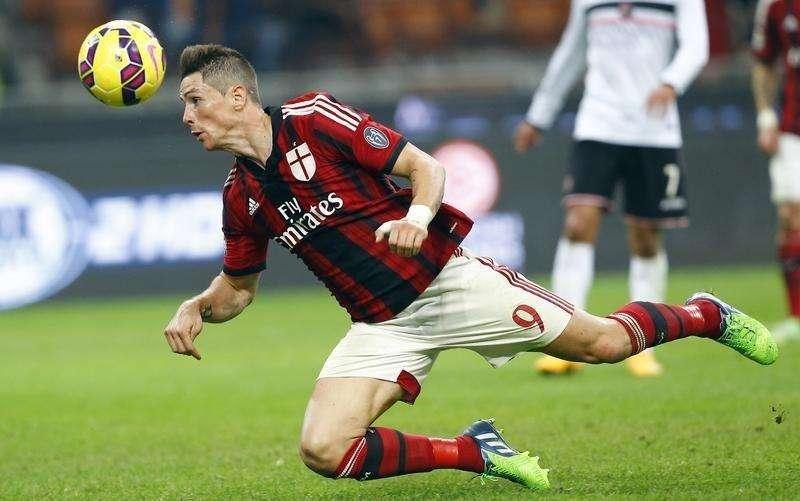 Atacante do Milan Fernando Torres em partida contra o Palermo no estádio San Siro, em Milão. 02/11/2014 Foto: Stefano Rellandini/Reuters