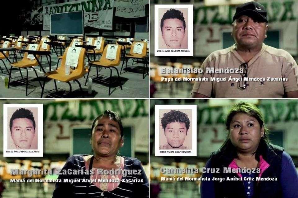 """Los padres de los estudiantes desaparecidos vivirán una Navidad """"muy triste"""" Foto: Especial/ YouTube"""