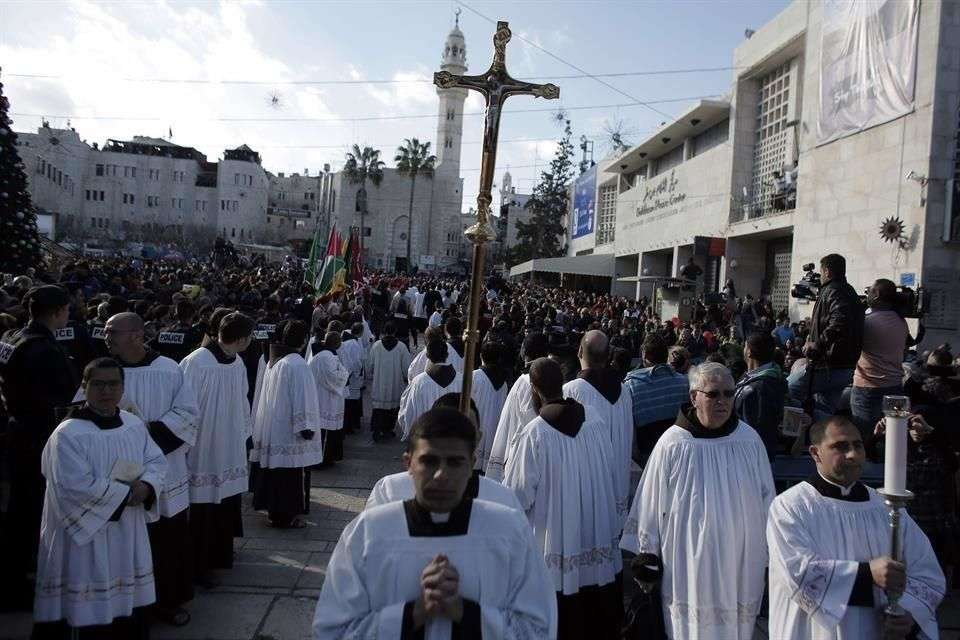Cristianos acuden a Belén para celebrar la Noche Buena Foto: AFP en español
