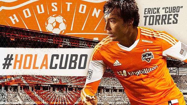 """Erick """"Cubo"""" Torres fue anunciado como """"jugador franquicia"""" del Houston Dynamo de la MLS. Foto: Houston Dynamo"""