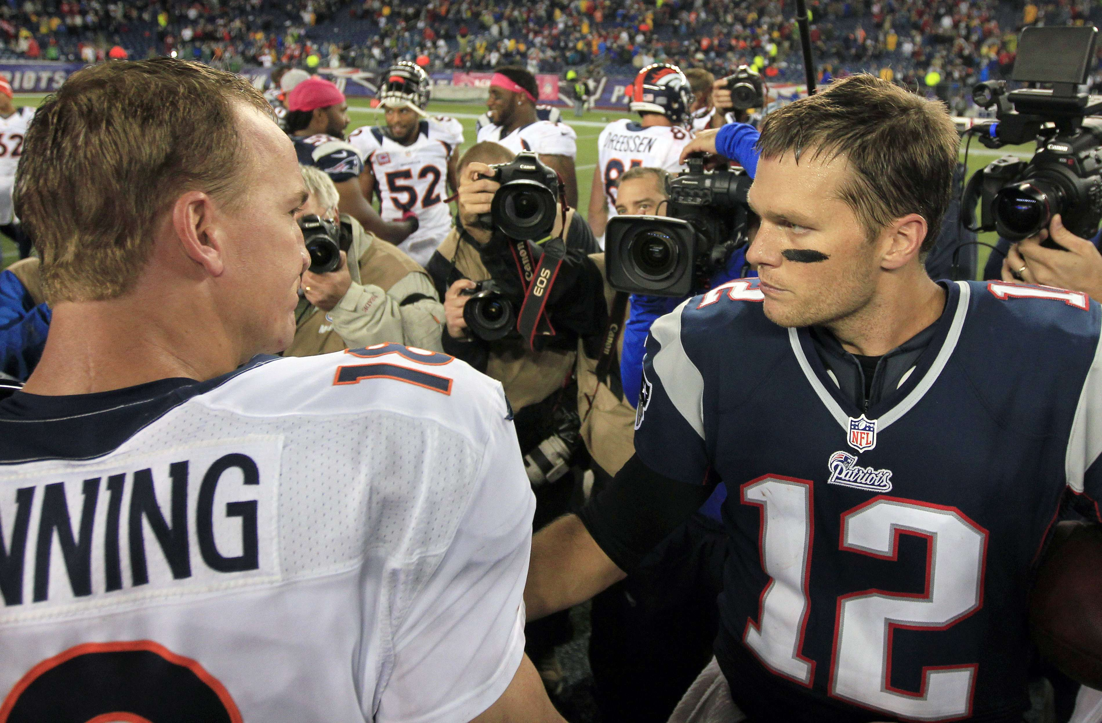 Manning y Brady fueron elegidos para el Pro Bowl. Foto: AP