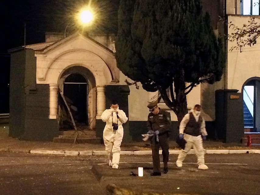 Un cabo segundo resultó lesionado tras la bomba. Foto: Agencia UNO