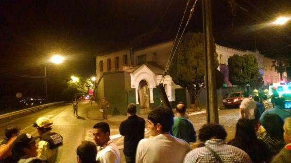 EL hecho ocurrió esta madrugada de Navidad en Temuco. Foto: Twitter @fica498