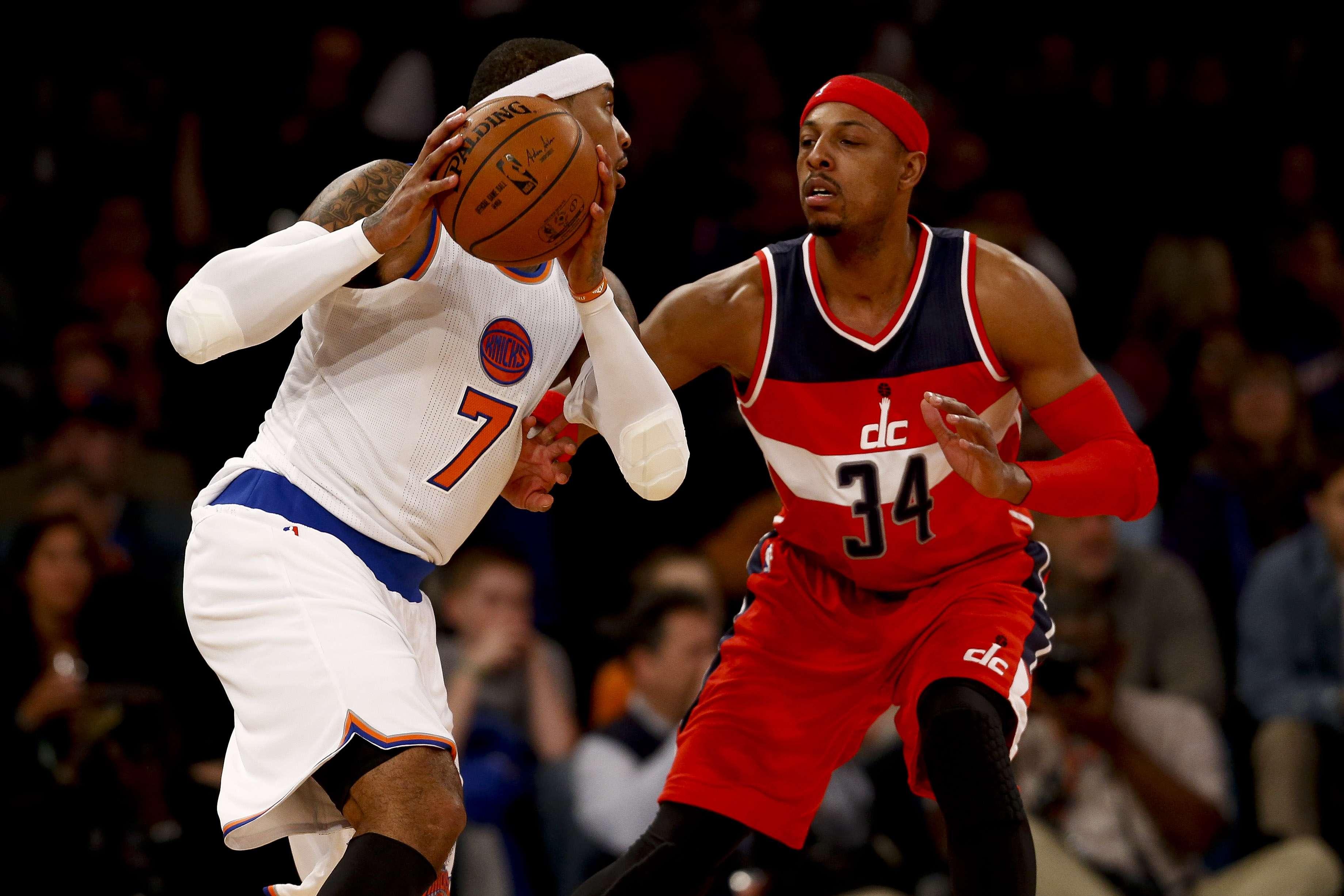 Los 34 puntos de Carmelo Anthony no fueron suficientes. Foto: Getty Images