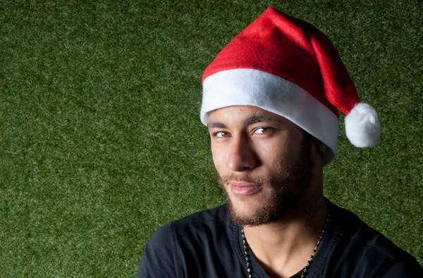 Neymar até vestiu um gorro para ser destaque de jornal espanhol Foto: Mundo Deportivo/Reprodução