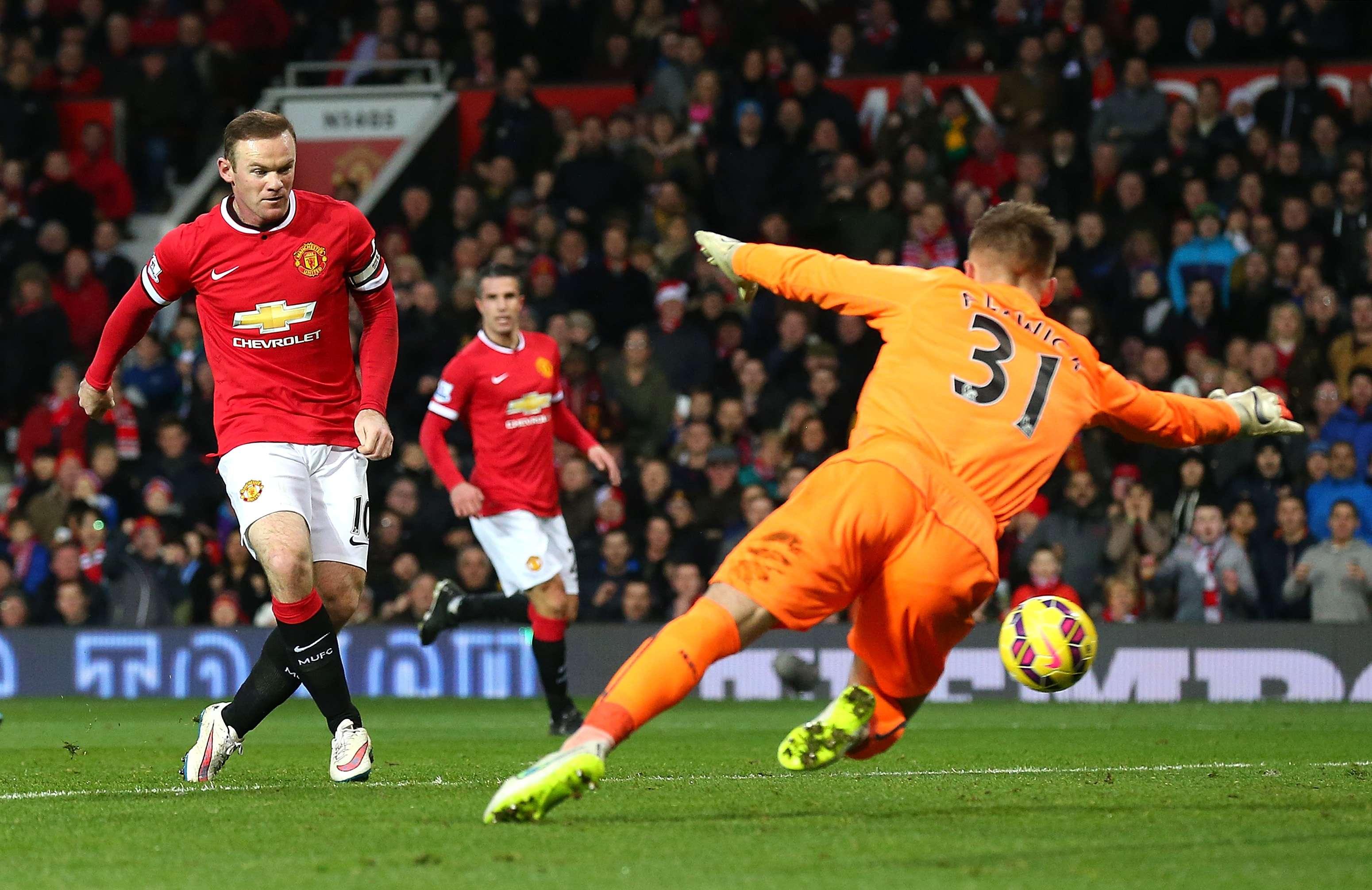 Rooney foi autor de dois gols na vitória por 3 a 1 em cima do Newcastle Foto: Alex Livesey/Getty Images