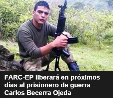 Así publicaron la noticia en su web las Farc Foto: Archivo particular
