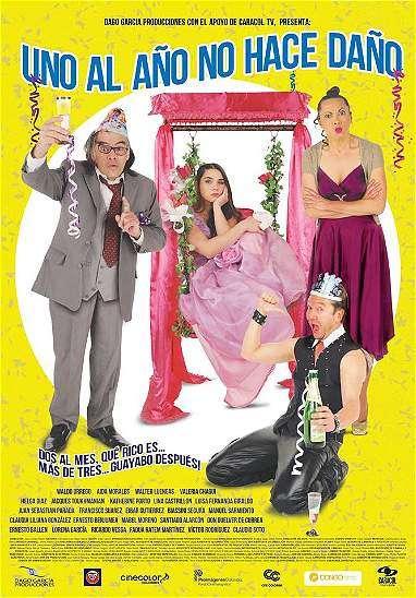 Afiche de Uno al año no hace daño Foto: Cinecolombia/Archivo particular