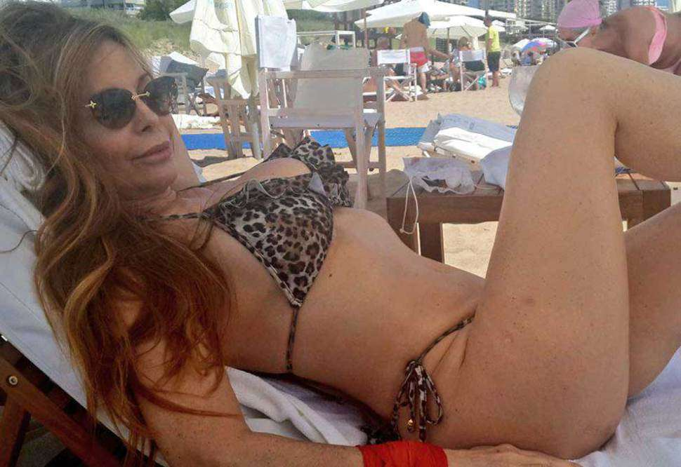Graciela Alfano aprovechó el sol de Punta del Este. Foto: @AlfanoGrace