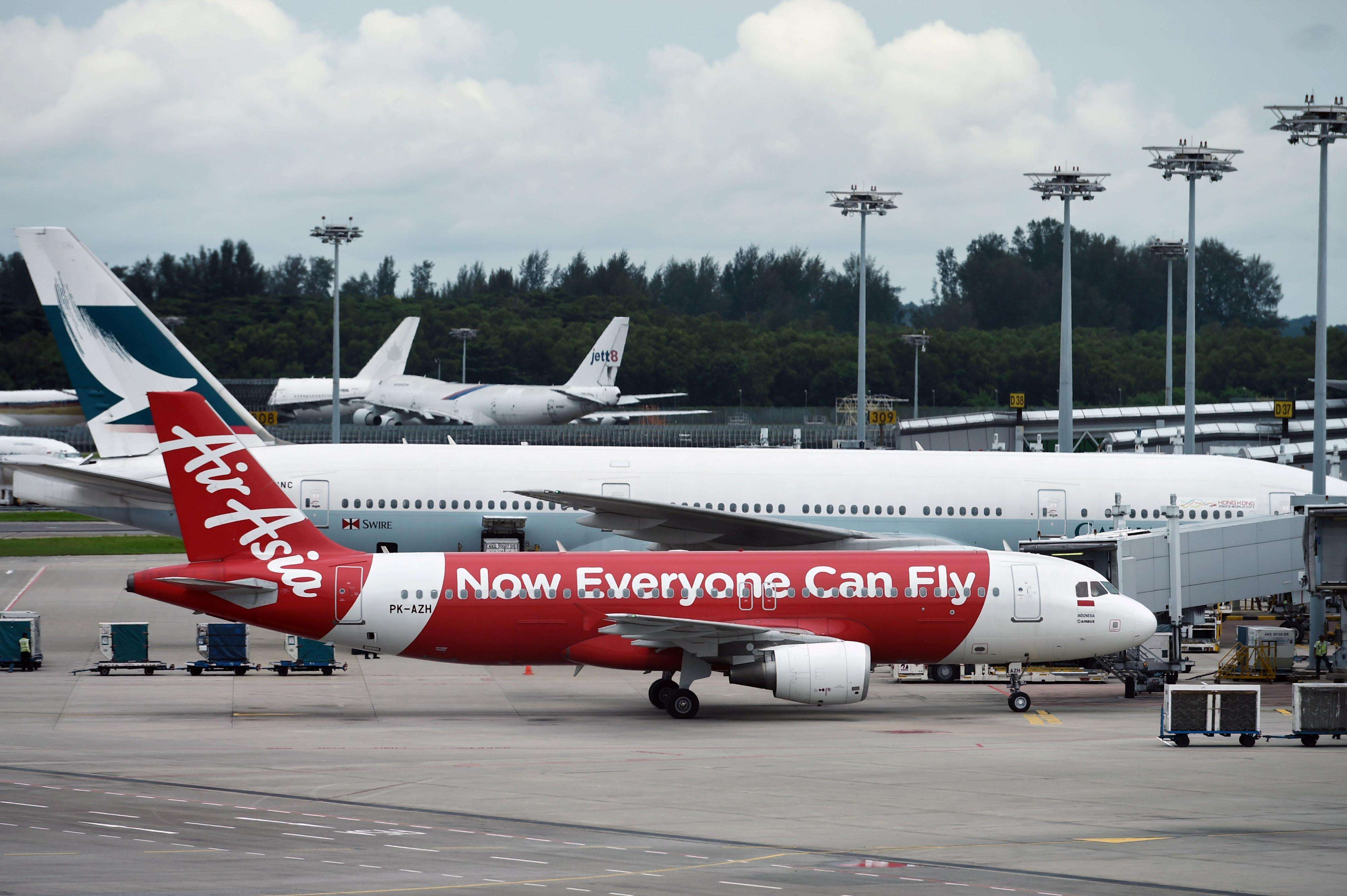 Avião da AirAsia desapareceu sobre o mar de Java Foto: AFP
