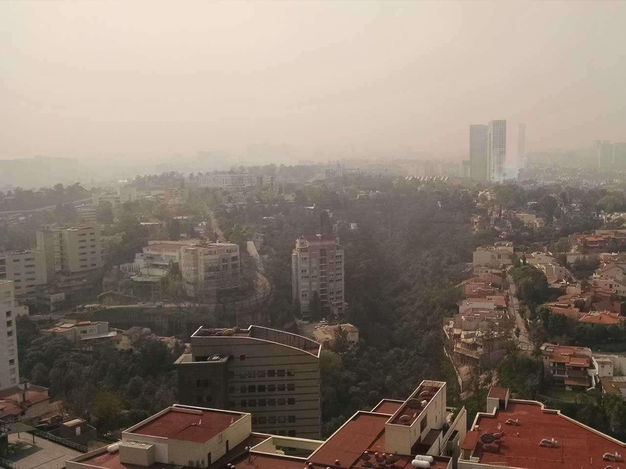 La calidad del aire en la Ciudad de México registró más de 100 puntos Imeca, el primero de enero de 2015. Foto: Juan Manuel Solís/Terra