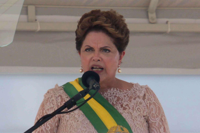 A presidente do Brasil, Dilma Rousseff durante cerimônia de posse presidencial, em Brasília (DF), nesta quinta-feira (01) Foto: Felipe Costa/Futura Press