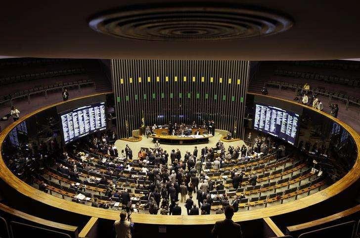 Vista do plenário da Câmara dos Deputados durante sessão do Congresso Nacional em Brasília. 03/12/2014 Foto: Ueslei Marcelino/Reuters