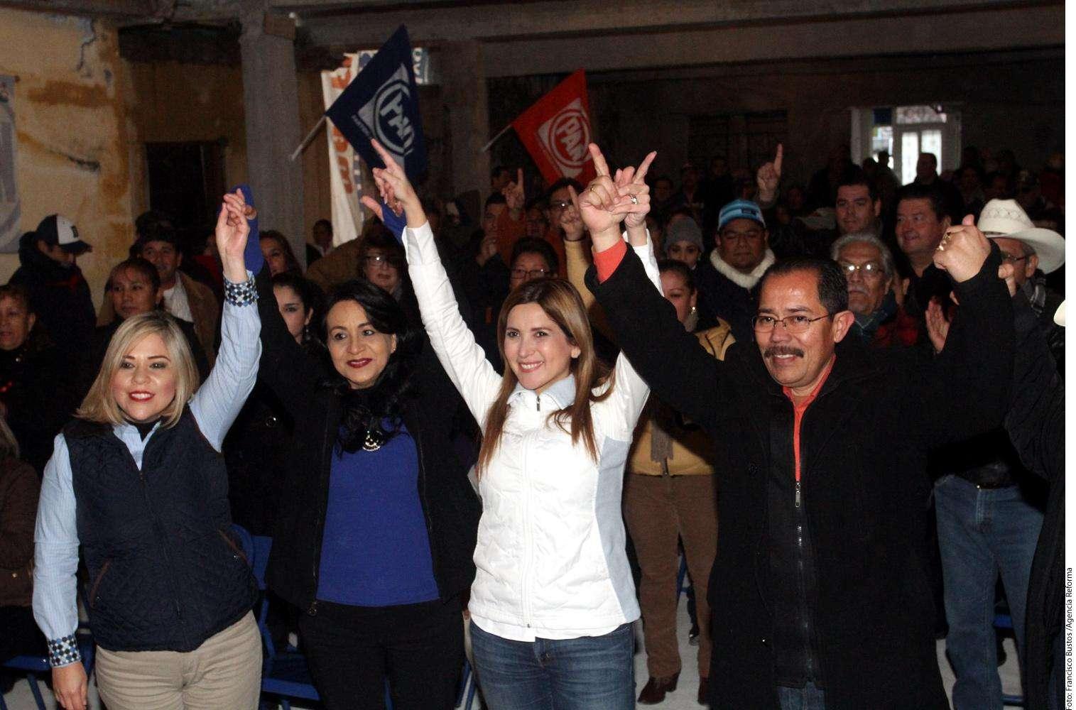 Margarita Arellanes en Nuevo León Foto: Agencia Reforma