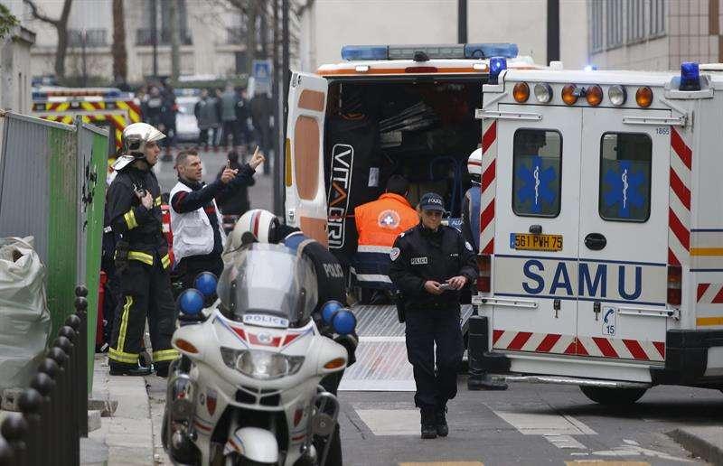 Imagen del atentado a la revista 'Charlie Hebdo' Foto: EFE