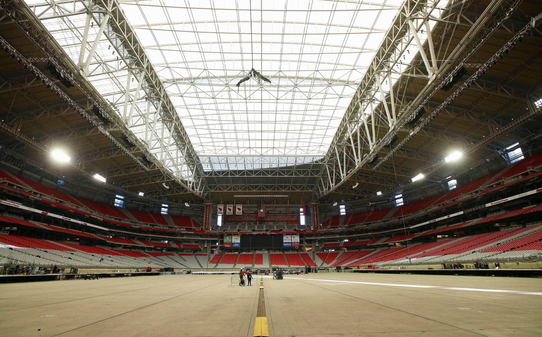 El Estadio de la Universidad de Phoenix en Arizona será el escenario para el Super Bowl. Foto: AP