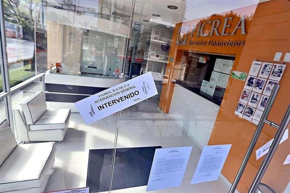 Ficrea fue intervenida gerencialmente por la Comisión Nacional Bancaria y de Valores el 7 de noviembre. Foto: Reforma