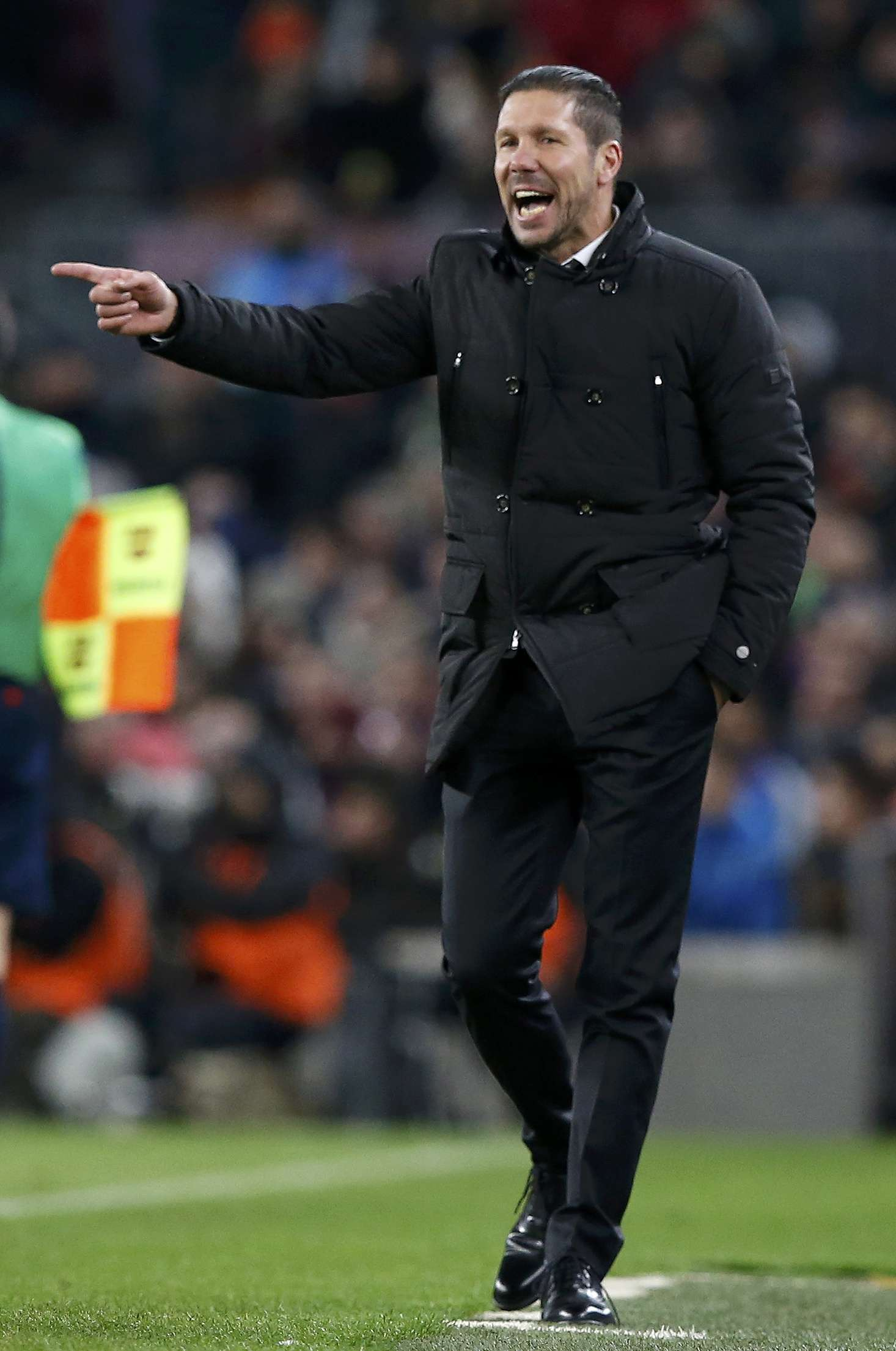 Atletico Madrid's coach Diego Simeone reacts during their King's Cup quarter-final first leg soccer match against Barcelona at the Nou Camp stadium in Barcelona, January 21, 2015. REUTERS/Gustau Nacarino (SPAIN - Tags: SPORT SOCCER) Foto: GUSTAU NACARINO/REUTERS