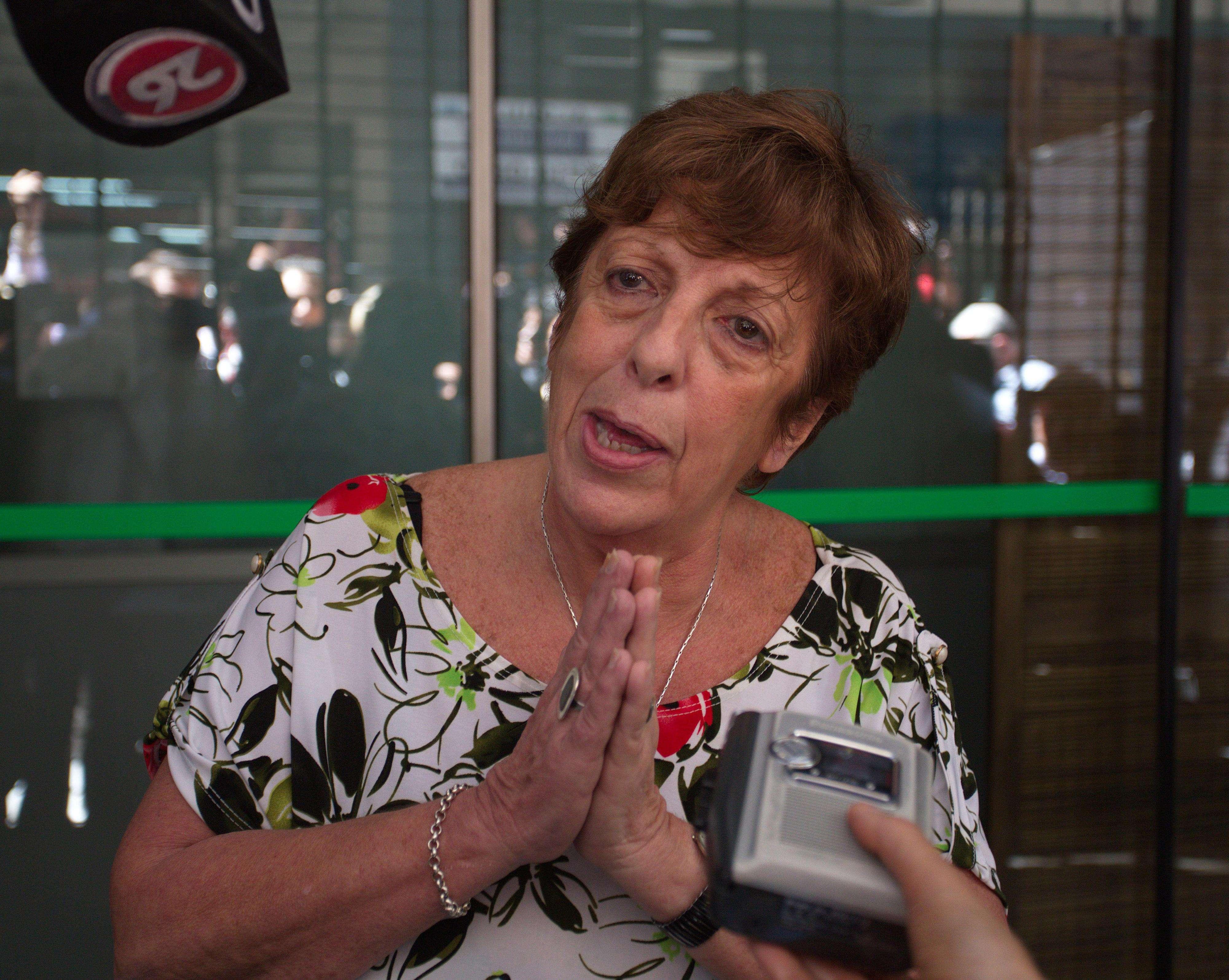 La fiscal Fein habló esta tarde con los medios. Foto: Noticias Argentinas