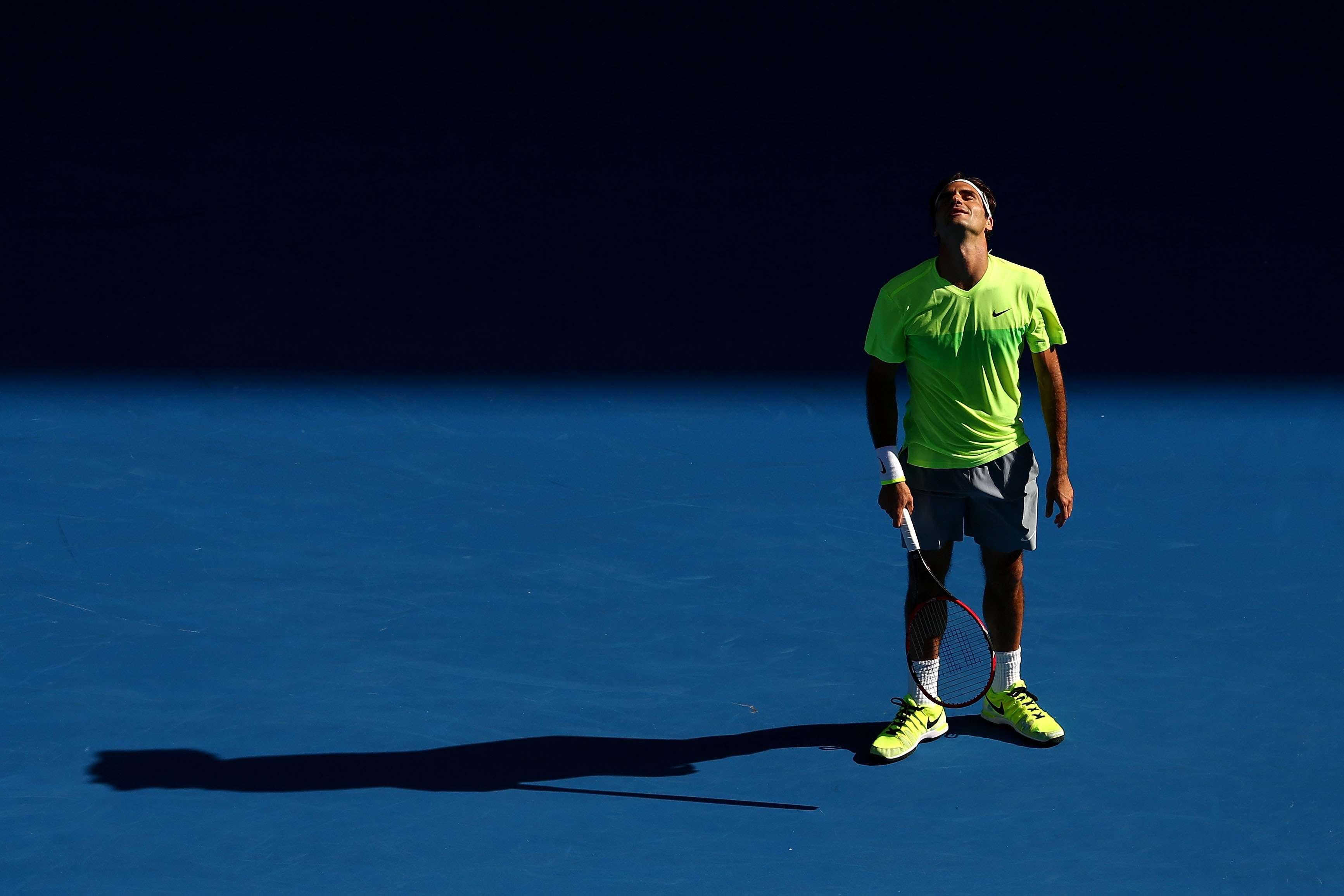 Roger Federer cayó eliminado del Open de Australia. Foto: Getty Images