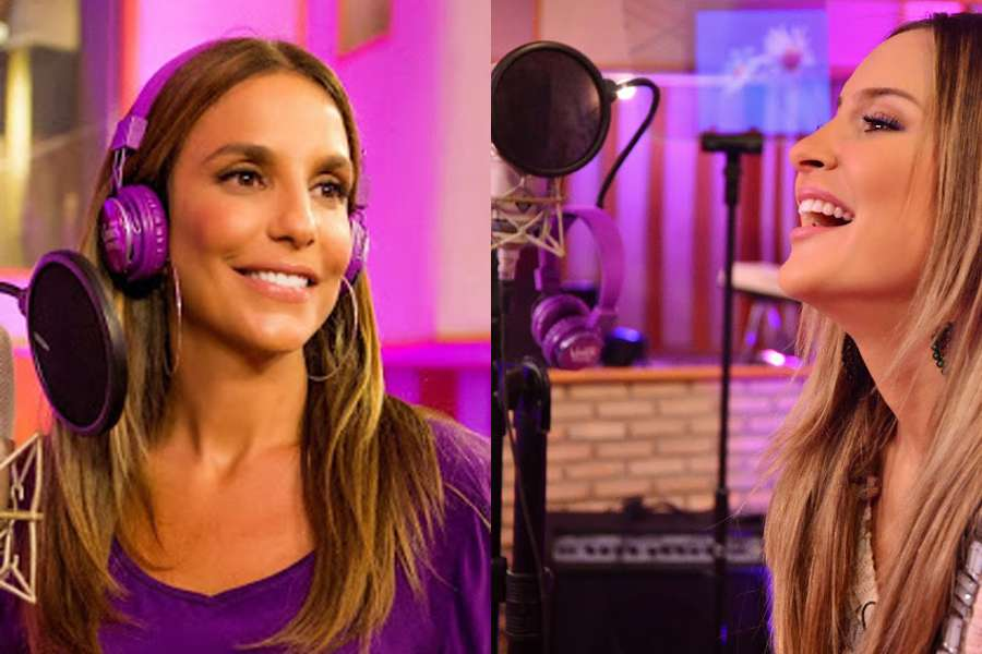 Ivete e Claudia gravaram juntas o música que vai embalar o Carnaval deste ano Foto: Gillette Venus Breeze/Divulgação