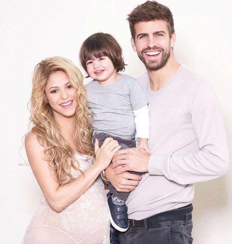 Shakira, Milan y Gerard Piqué. Foto: Facebook Shakira