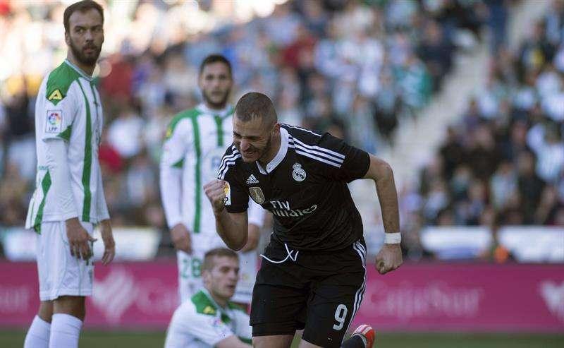 Benzema marcó su noveno gol de la campaña. Foto: EFE en español