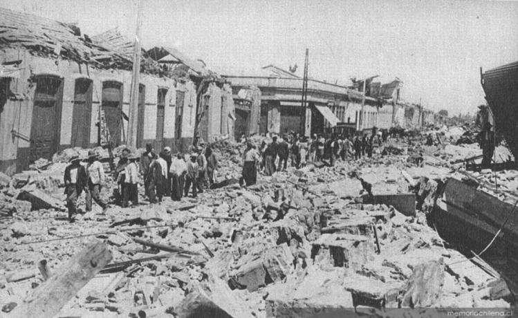 El terremoto mató a casi 30 mil personas y fue de 7.8 Richter Foto: memoriachilena.cl