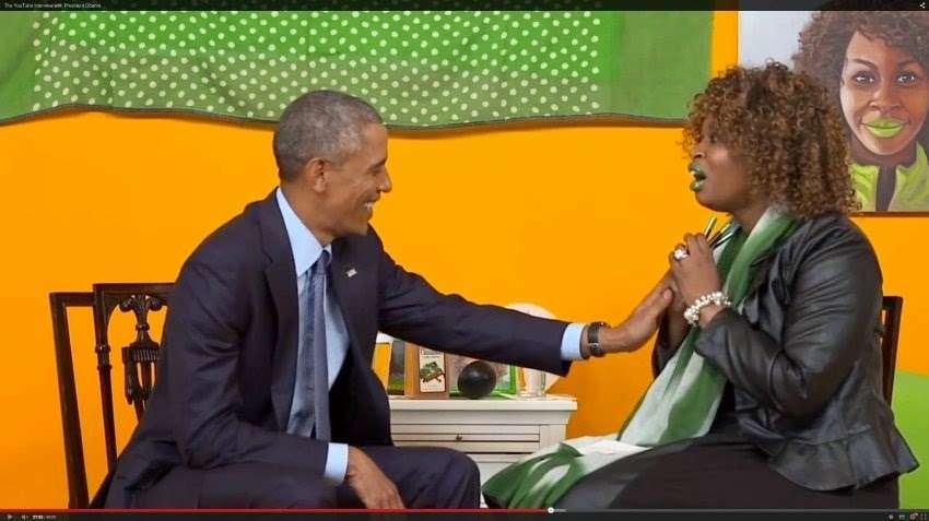GloZell Green fue una de las tres estrellas de YouTube que entrevistó a Barack Obama en el evento denominado #YouTubeAsksObama Foto: Youtube.com