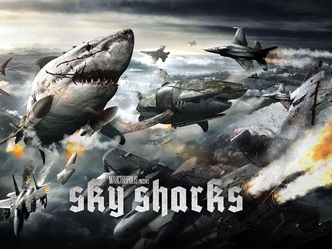 'Sky Sharks' tendrá como protagonistas a Cary-Hiroyuki Tagawa, Robert LaSardo, Nick Principe, Lar Park-Lincoln y Lynn Lowry. Foto: Marctropolis-Film