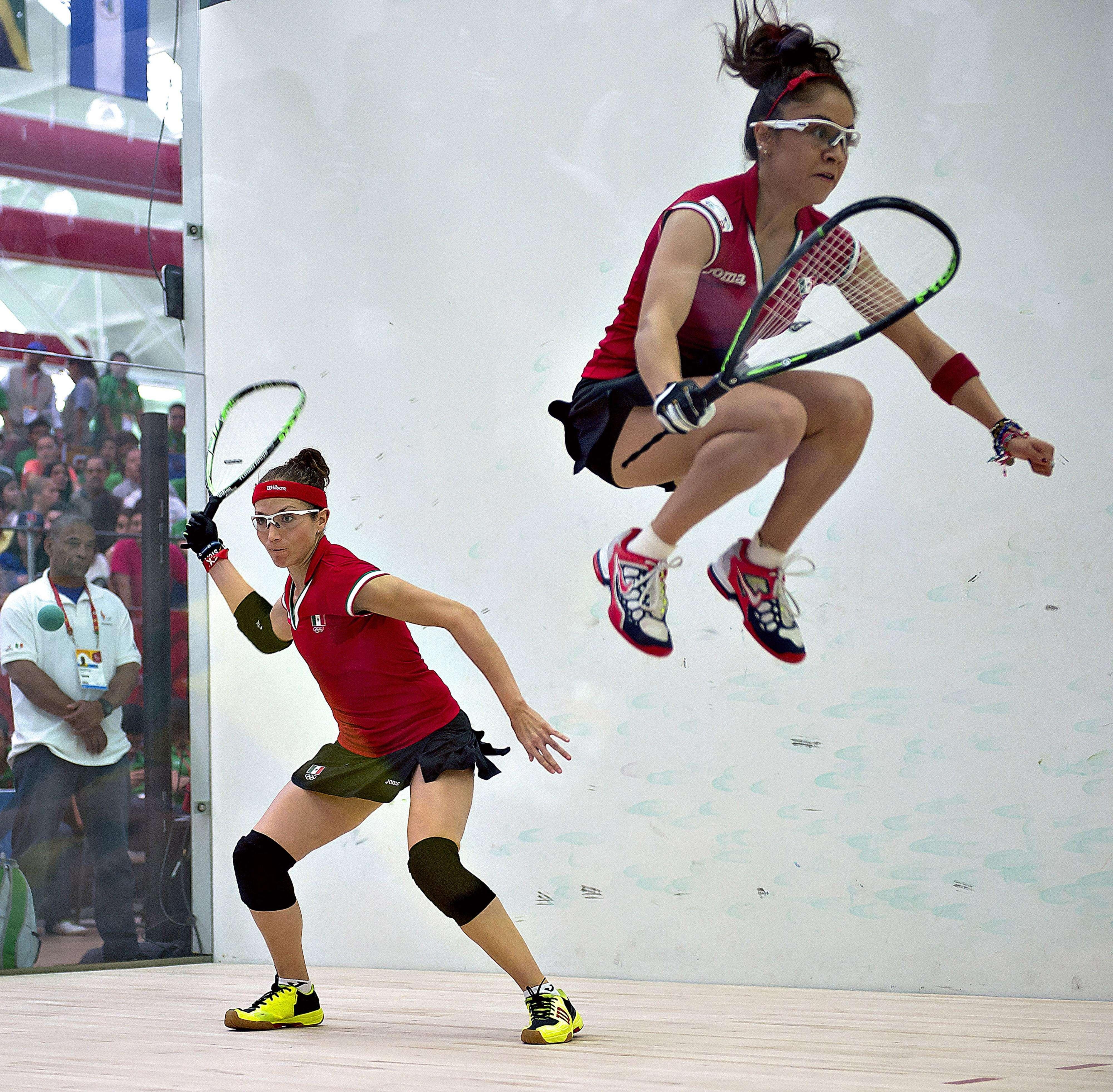 Paola Longoria y Samantha Sala, las dos máximas representantes de Racquetbol mexicano Foto: Mexsports
