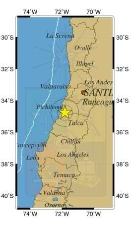 El sismo de mediana intensidad se percibió a las 05:47 horas. Foto: Sismología de Chile
