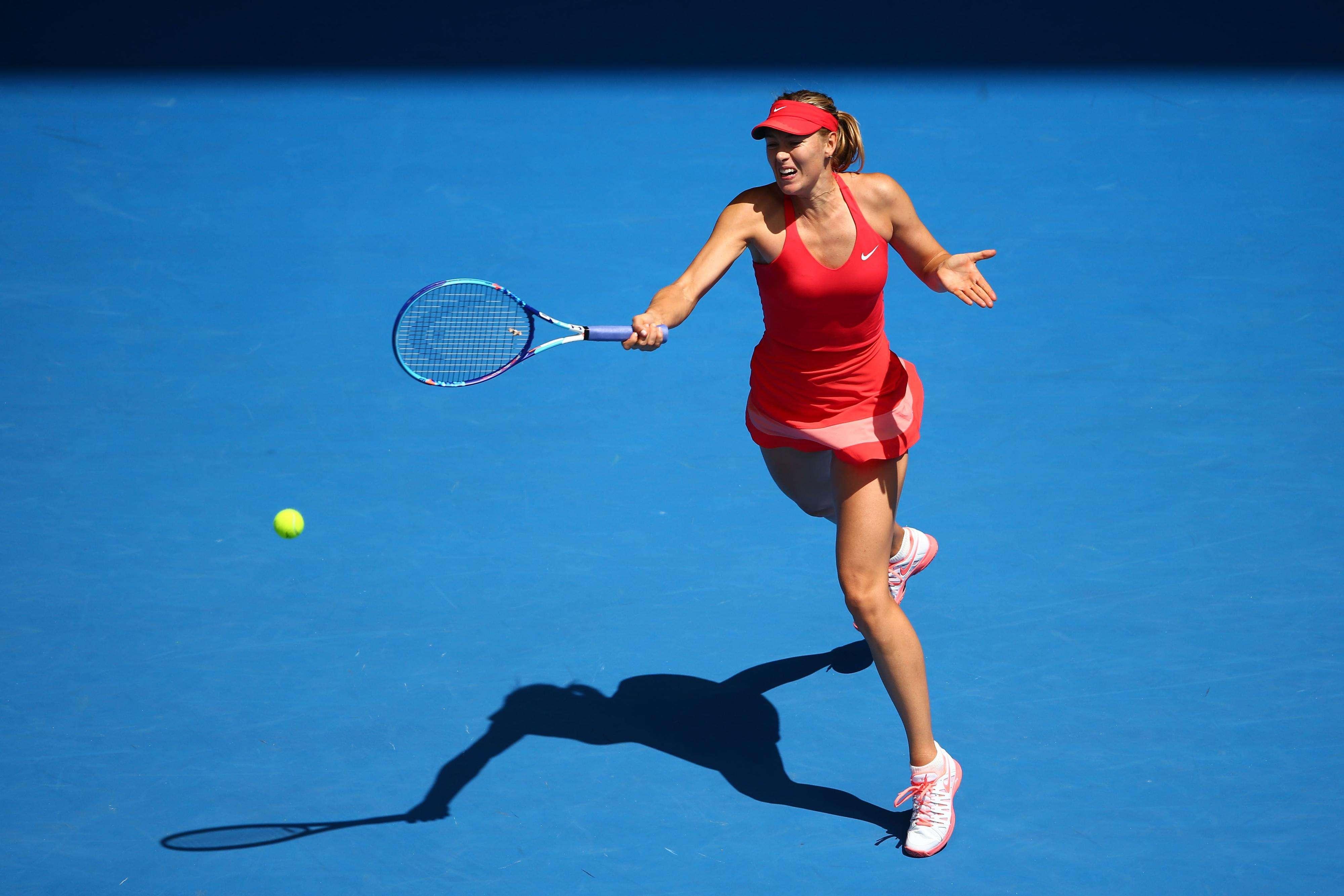 Sharapova sufrió pero puso superar la resistencia que le opuso Peng. Foto: Getty Images