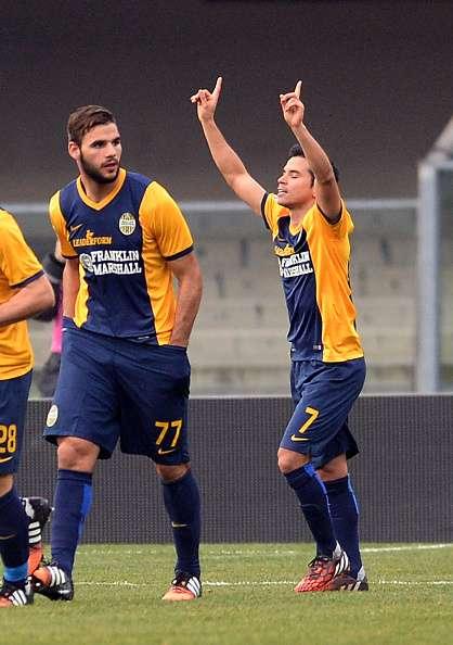 Saviola marcó su primer gol con el Hellas Verona. Foto: Getty Images