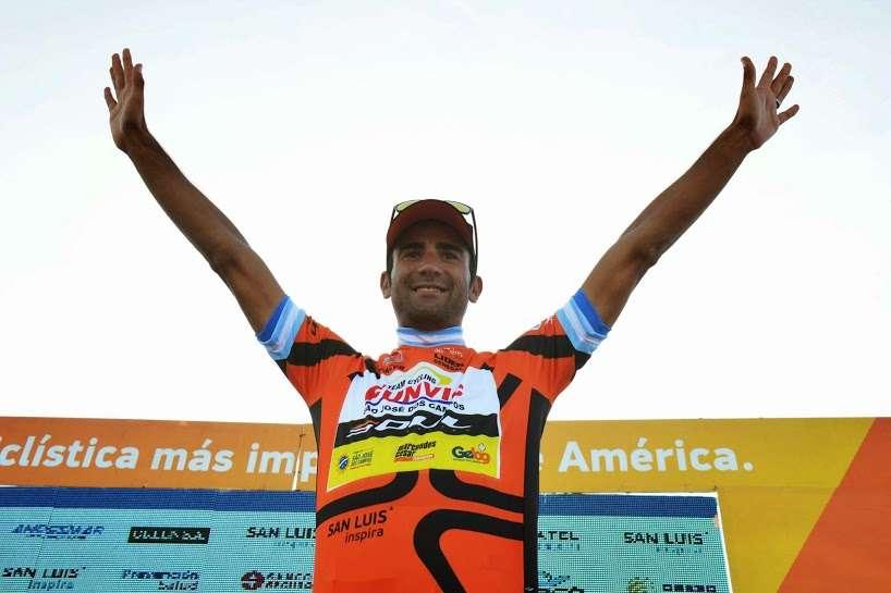 """Daniel festeja. """"Es la mayor victoria de mi carrera"""", contó el salteño Foto: Agencia SAN LUIS/"""