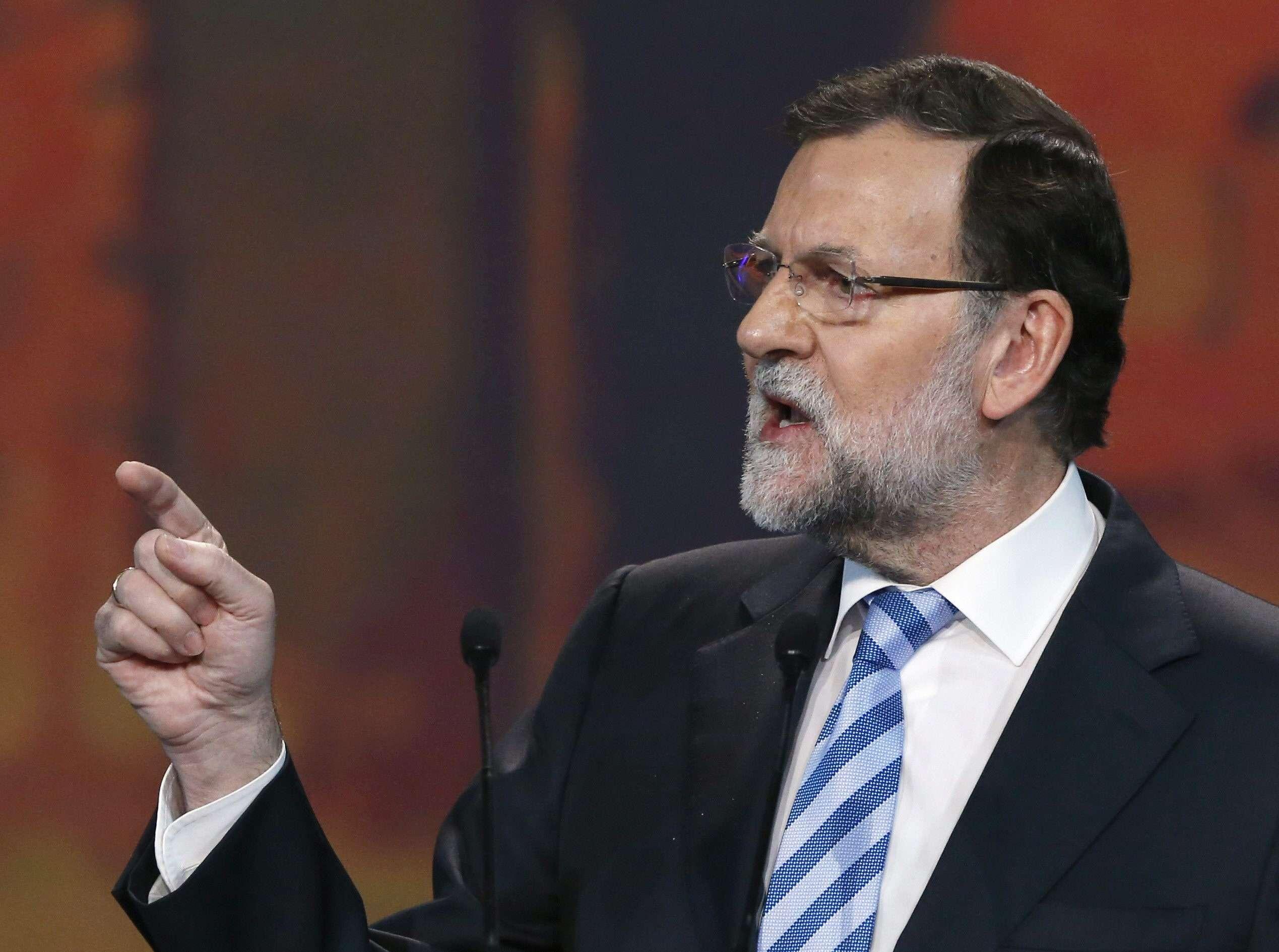 Mariano Rajoy, presidente de España, durante la Convención Nacional del PP. Foto: EFE en español