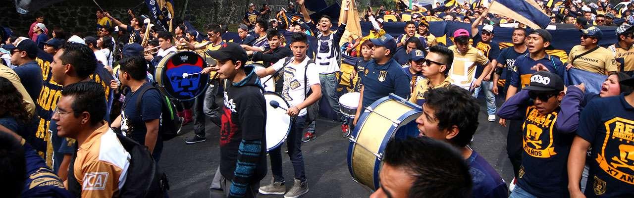 La Rebel celebró su aniversario con marcha del metro Copilco al Estadio Olímpico Universitario. Foto: Imago7