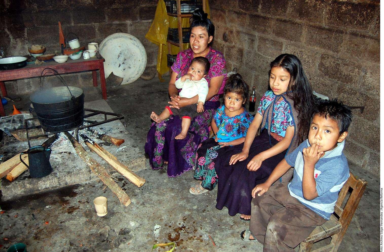 Pobreza en Zinacantán Foto: Agencia Reforma