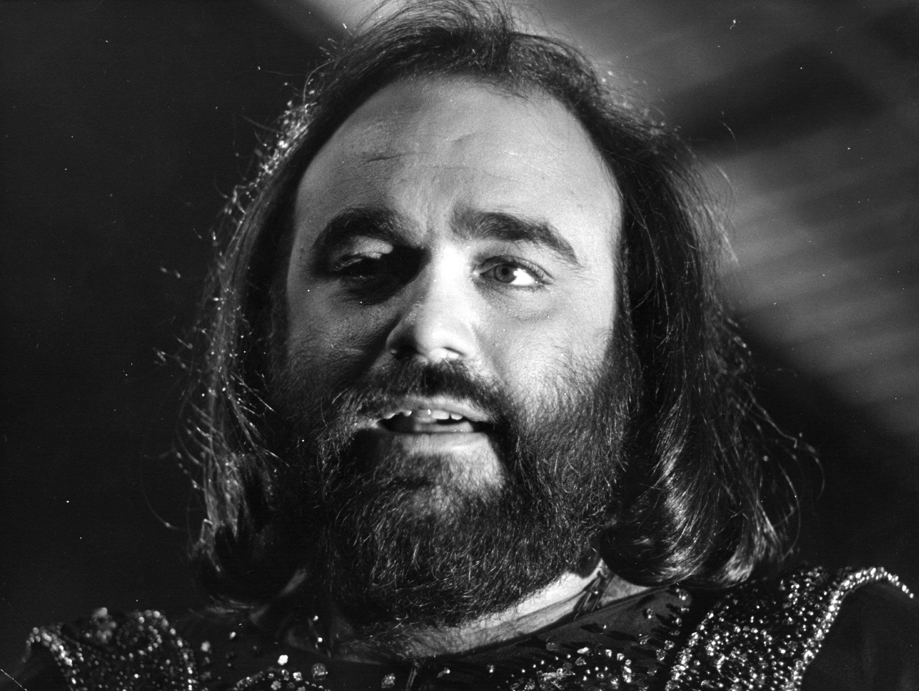 Imagen del cantante Demis Roussos en 1975 Foto: Getty