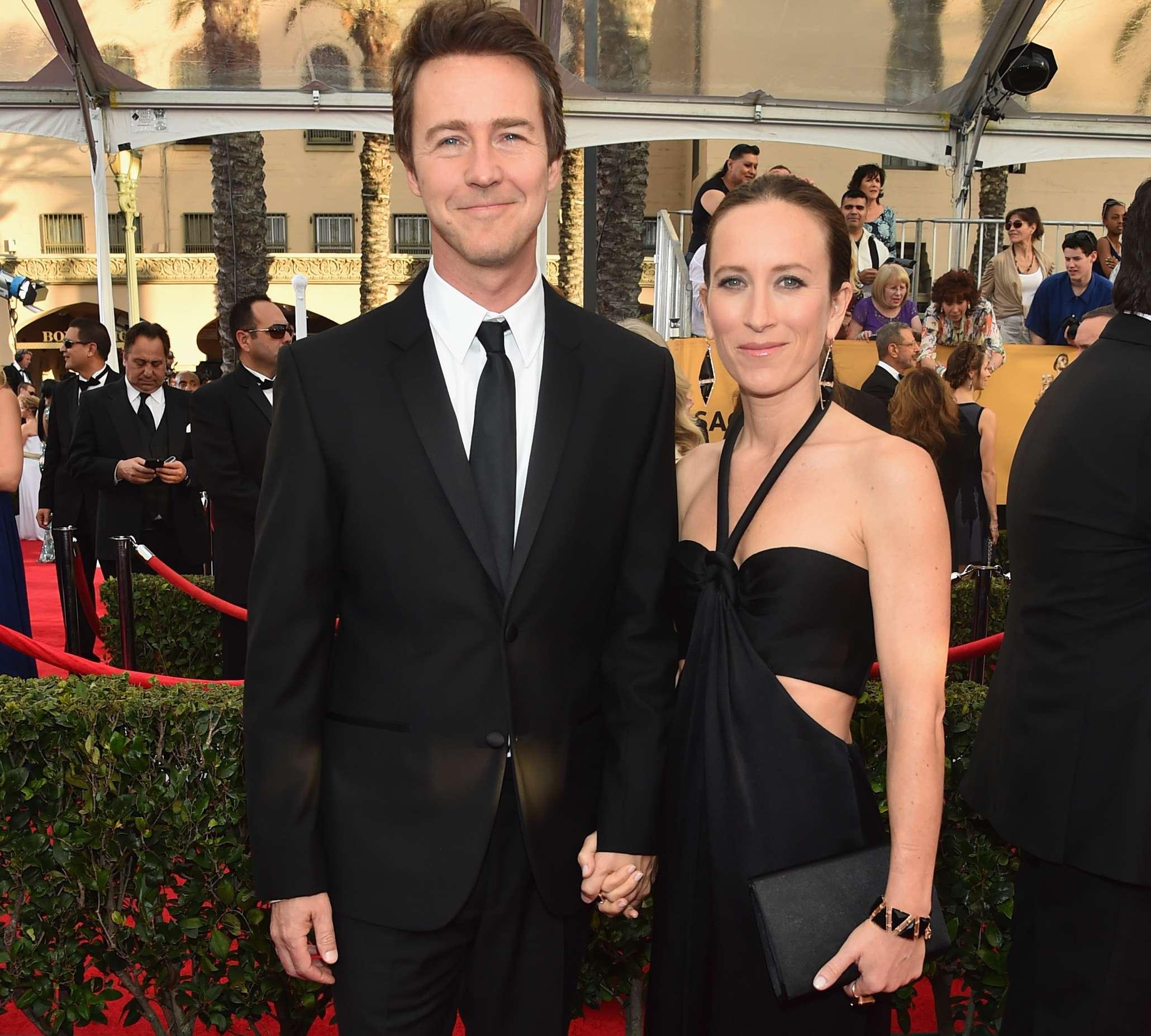 Edward Norton y Shauna Robertson mantuvieron una relación sentimental de seis años antes de que él le pidiera matrimonio en 2011. Foto: Getty Images