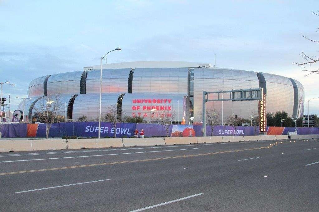 A unos días del Super Bowl, el University of Phoenix Stadium luce más que preparado para recibir a Seahawks y Patriots. Foto: Gabriel Hernández/Terra