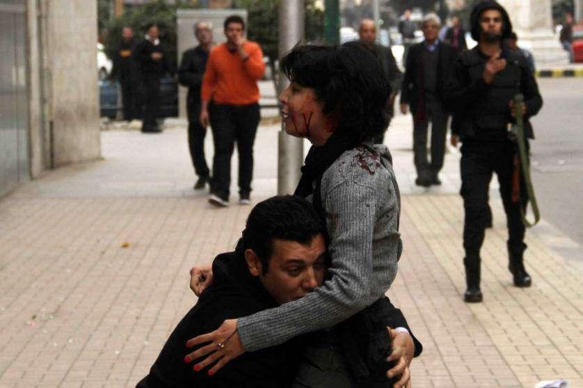 Shaimaa al-Sabbagh participaba en una marcha convocada por la Alianza Popular Socialista de Egipto. Foto: Reuters en español