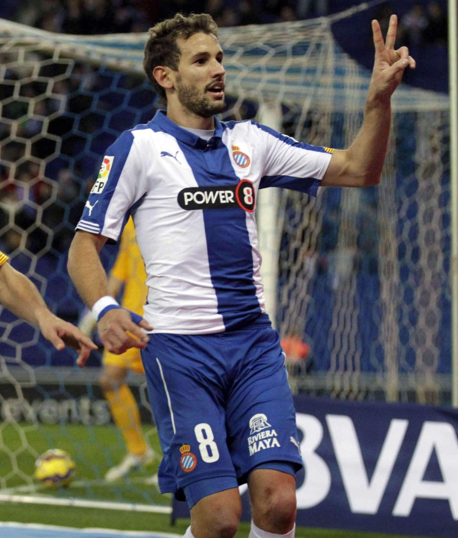 Christian Stuani suma ocho goles con Espanyol en la temporada 2014-2015, dos los marcó en el último duelo ante Almería. Foto: EFE