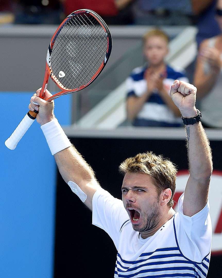 El suizo Stanislas Wawrinka, defensor del título, despidió al español Guillermo García López del Abierto de Australia, al vencerle por 7-6 (2), 6-4, 4-6 y 7-6 (8). Foto: AP